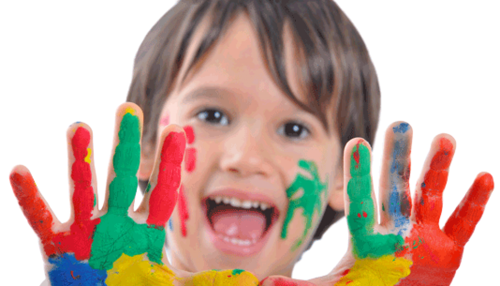 Boy-With-Paint-On-Hands